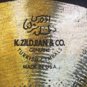Gildan Shirts - Tshirt Zildjian Cymbal Skull Drummer Band Shirt L